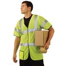 Seton 87502 OccuNomix Premium Mesh Dual Stripe ANSI Class 3 Safety Vests, Size: Medium