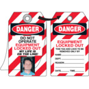 Seton 87507 Self-Laminating Employee Photo Lockout Tags- Danger Do Not Operate