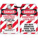 Seton 87510 Self-Laminating Employee Photo Lockout Tags- Danger Equipment Lock Out