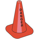 Seton 90386 Worded Traffic Cones - Danger, Size: 18