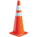 Seton 90400 Reflective Striped Traffic Cones, Size: 28