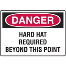 Seton 99736 OSHA Danger Signs For Rough And Curved Surfaces, Size: 10