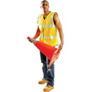 Occulux AA537 Occunomix Premium Solid Dual Stripe Vest, Size: Large, Color: Yellow