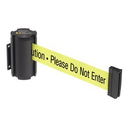 Beltrac BB905 Beltrac Wall-Mount Retractable Belts - Safety Message Belt, Color: Yellow with Text
