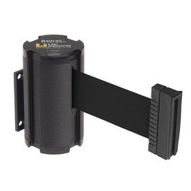 Beltrac Wall-Mount Retractable Belts - Black Belt, BB911, Price/Each