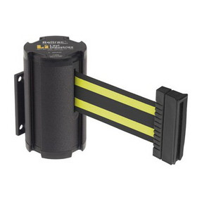 Beltrac Wall-Mount Retractable Belts - Yellow/Black Belt, BB913, Price/Each