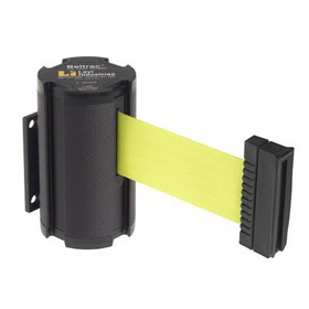 Beltrac Wall-Mount Retractable Belts - Fluorescent Yellow Belt, BB917, Price/Each