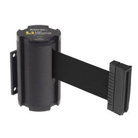 Beltrac Wall-Mount Retractable Belts - Black Belt, BB920, Price/Each