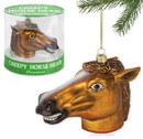 """Accoutrements ACC-12428-C Creepy Horse Head 4.5"""" Glass Holiday Ornament"""
