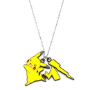 Body Vibe BDV-PIKAPNK02-C Pokemon Pikachu and Lightning Bolt Enamel Pendant Necklace