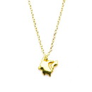 Body Vibe BDV-PIKAPNKSM01-C Pokemon Pikachu Gold Plated Pendant Necklace