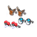 Body Vibe BDV-PMEVEER02-BP-C Pokemon Eevee & Pokeballs Stud Earrings, Set of 3