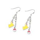 Body Vibe BDV-PMPIKADER01-C Pokemon Pokeball & Lightning Bolt Dangle Earrings