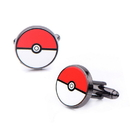 Body Vibe BDV-PMPOKBCL01-C Pokemon Black PVD Plated Pokeball Cufflinks