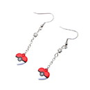 Body Vibe BDV-PMPOKIBHRTER02-C Pokemon Heart Shaped Pokeball Dangle Earrings