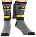 Bioworld BIW-CR0JA4BTM-C-AN00 Batman Suit Up Crew Socks With Cape One Size Fits Most