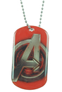 Bioworld Avengers: Age Of Ultron Logo Dog Tag Necklace