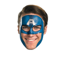Disguise Captain America Face Tattoo Costume