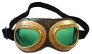 Elope Aviator Goggle Gold & Brown Adult Costume Accessory
