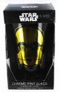 Funky People Star Wars C3PO Chrome Pint Glass