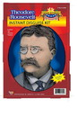 Forum Novelties FRM-60390-C Theodore Roosevelt Wig Moustache Glasses Disguise Adult Costume Kit