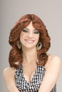 Forum Novelties 70's Disco Doll Auburn Red Adult Costume Wig