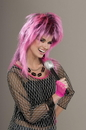 Forum Novelties 80's Punk Rock Electric Pink Costume Wig