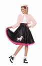 50's Sweetheart Deluxe Poodle Skirt Costume Set Adult