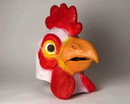 Adult Deluxe Latex Animal Costume Mask - Chicken