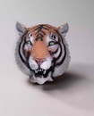 Adult Deluxe Latex Animal Costume Mask - Tiger