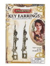 Forum Novelties FRM-66252-C Steampunk Key Costume Jewelry Earrings