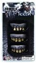 Forum Novelties Zombie Prosthetic Teeth Costume Accessory - Set of 3
