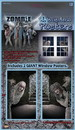 Forum Novelties FRM-66533-C Giant Zombie Window Posters Halloween Party Prop Decoration 2 Pack