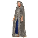 Forum Novelties Medieval Fantasy Grey W/Faux Fur Trim Adult Costume Cape