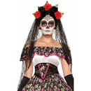 Forum Novelties FRM-74922-C Day of the Dead Black Costume Veil One Size
