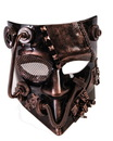 Steampunk Jester Costume Mask Bronze Adult