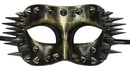 Steampunk Spiked Costume Mask Gold Adult