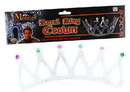 Royal King Costume Crown Silver With Jewels Adult Men