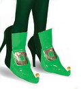 Elf Green Costume Shoe Covers
