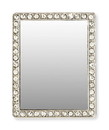 iDecoz  IDZ-RE556M-C iDecoz Phone Mirror: Silver Rectangle w/ Crystals