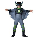 Incharacter Wild Kratts Child Muscle Chest Costume Green Chris Kratt Bat