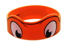 Just Funky Teenage Mutant Ninja Turtles Michelangelo Orange Rubber Wristband