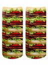 Living Royal LVR-4103C-C Stacked Hamburgers Photo Print Crew Socks