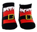 Santa Boots Baby Socks 0-6 Month