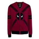Mighty Fine Deadpool 5 Button Adult Cardigan Sweater