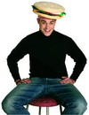 Rasta Imposta Cheeseburger Costume Hat
