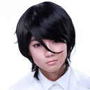 Rockstar Wigs Boy Cut Long Black Cosplay Wig