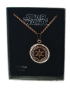 ThinkGeek Star Wars Rose Gold PVD Plated Galactic Empire Symbol Pendant