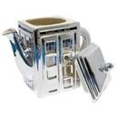 Underground Toys UGT-DR235-C Doctor Who 3D TARDIS Ceramic Teapot: Metallic Silver