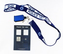 Doctor Who Lanyard: I Am TARDIS with 2D TARDIS Charm